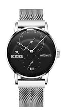 Relogio Masculino BINGER Switzerland Stainless Steel Mechanical Watch for Man