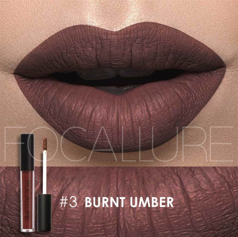 Waterproof Lipstick, moisturizing and Smooth Long Lasting matt lipstick FOCALLURE #3