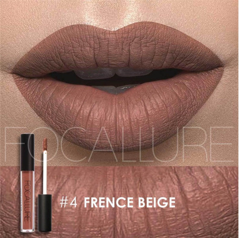 Waterproof Lipstick, moisturizing and Smooth Long Lasting matt lipstick FOCALLURE #4