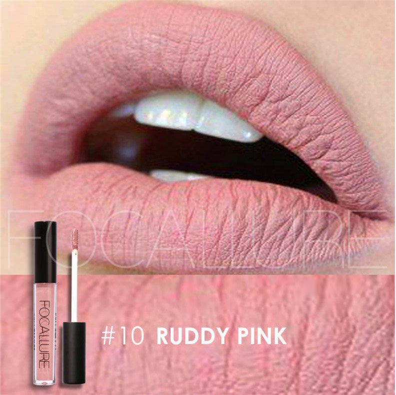 Waterproof Lipstick, moisturizing and Smooth Long Lasting matt lipstick FOCALLURE #10