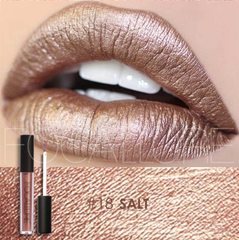 Waterproof Lipstick, moisturizing and Smooth Long Lasting Shine lipstick FOCALLURE #18