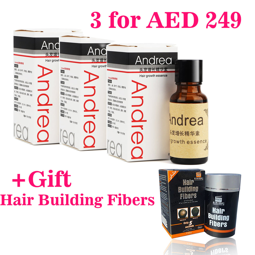 Promo Pack 3X Andrea Hair Growth Essence+ Free Gift