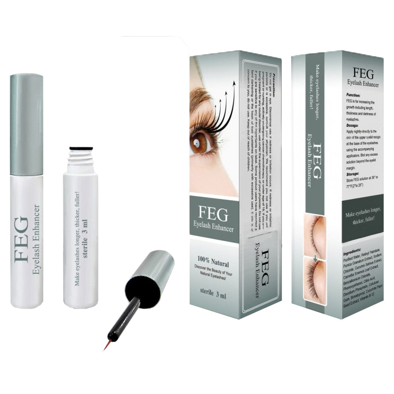 Organic eyelash growth serum