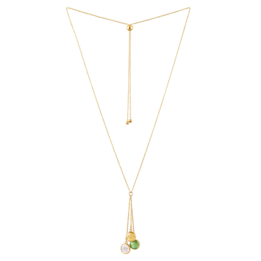 Candy Trio Adjustable Lariat Necklace