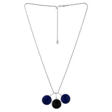 Large Lapis Candy Charm Trio Necklace
