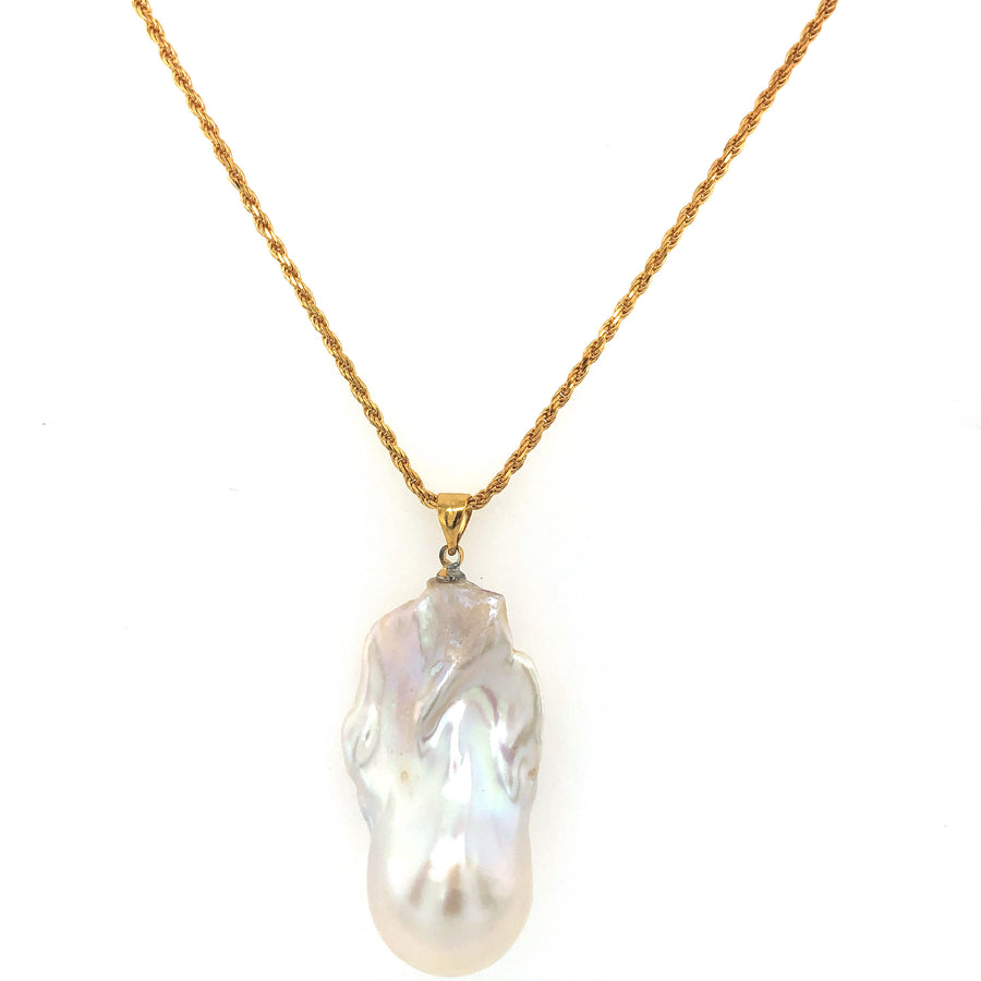 Freshwater Baroque Pearl Charm Pendant