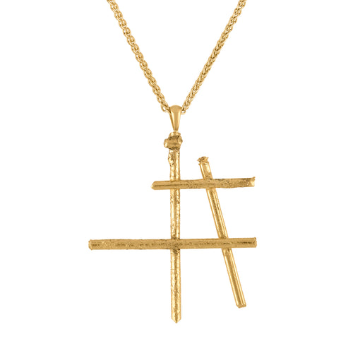Freedom Deconstructed Hashtag Pendant