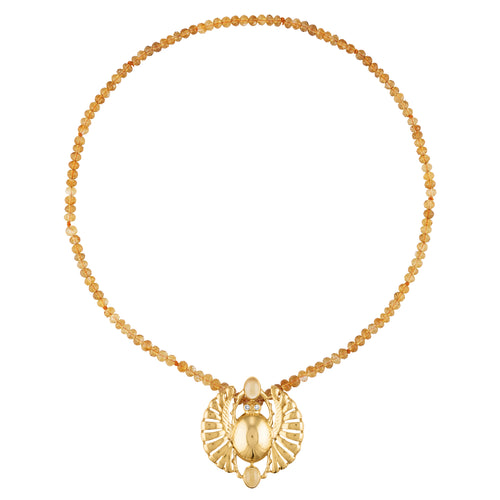Rashida Winged Scarab Necklace