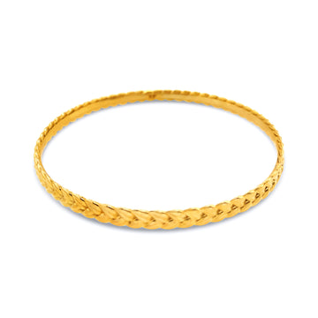 Wheat Sheaf Bangle Bracelet