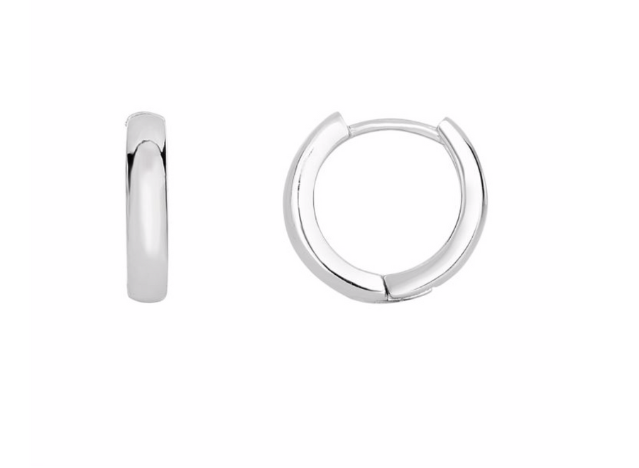 Delicate Huggie Clicker Hoop Earrings