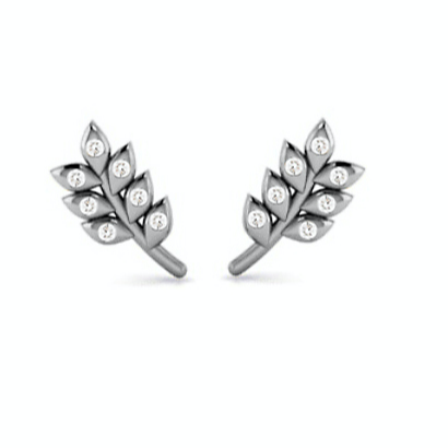 Mother Nature's Stud Earrings - Wheat Sheaf Motif