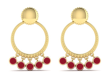Naila Shaker Hoop Earrings