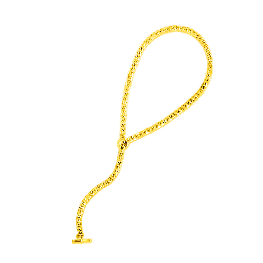 Curb Chain Necklace with Toggle Clasp