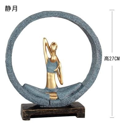 Beautiful Girl Yoga Position Sculpture - Style 1 - Home Decorations