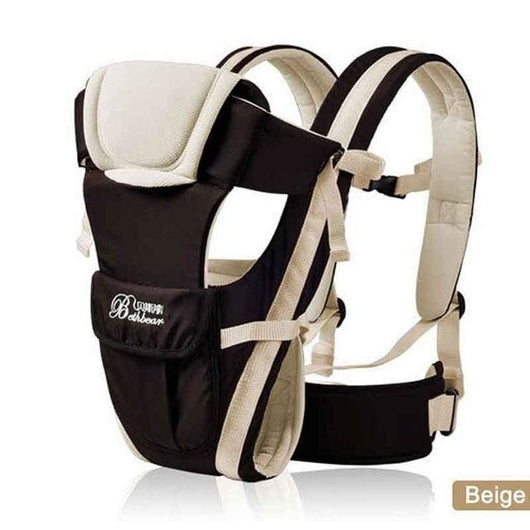 Breathable 4 In 1 Baby Carrier - Beige / China - Kids-Babies