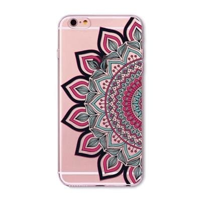 Colorful Floral Mandala Henna Back Cover For Iphone - Green / For Iphone 5 5S Se - Phone Accessories