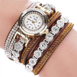Fashion Womens Watch - Vintage Sterling Bracelet Style - Brown - Womens Watch