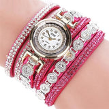 Fashion Womens Watch - Vintage Sterling Bracelet Style - Hotpink - Womens Watch