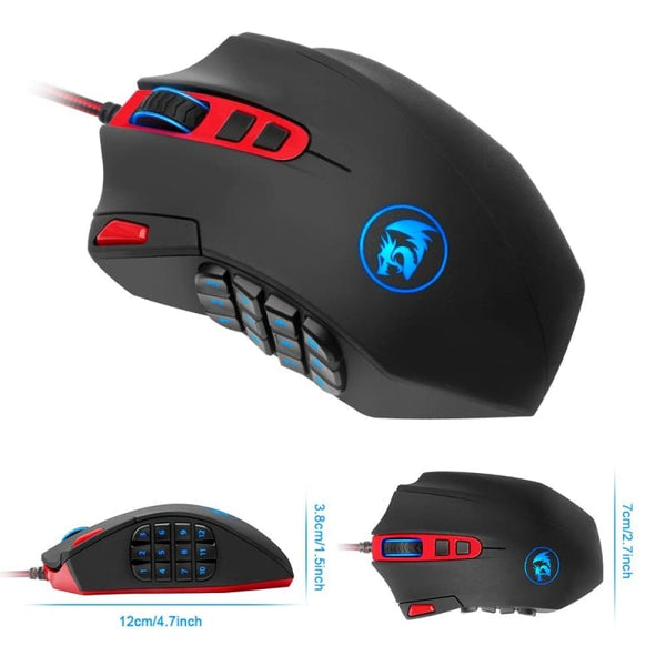 Gaming Mouse With 18 Programmable Buttons - Gaming Gear