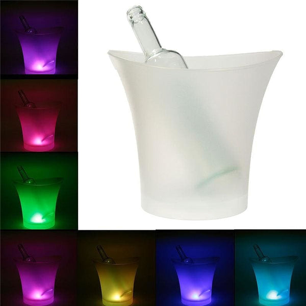 Ice Bucket 5 Ltr With 7 Changable Colors Led Light - Wine Gadget