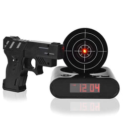 Laser Shooting Gun Alarm Clock - Home Decorations