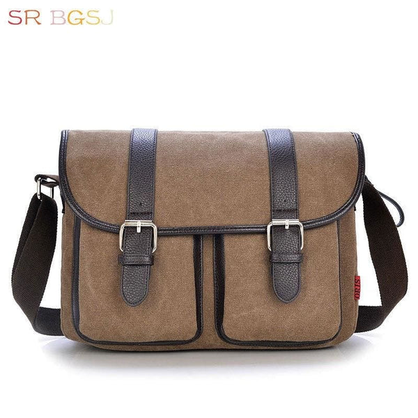 Mens Vintage Leather Satchel Bag - Laptop Bag