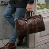 Travel Men Leather Duffle Bag - M8883