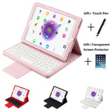 iPad mini 4 case with magnetic detachable bluetooth keyboard and flip leather stand