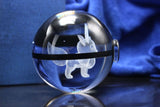 Realistic Crystal Pokeball Large Size (80 Mm Diameter ) - Part 1 - Ball Only / Eeve - Pokemon Merchandise