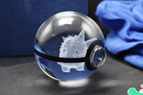 Realistic Crystal Pokeball Large Size (80 Mm Diameter ) - Part 1 - Ball Only / Gengar - Pokemon Merchandise