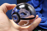 Realistic Crystal Pokeball Large Size (80 Mm Diameter ) - Part 1 - Ball Only / Gyarados - Pokemon Merchandise