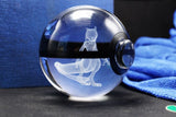 Realistic Crystal Pokeball Large Size (80 Mm Diameter ) - Part 1 - Ball Only / Mewto - Pokemon Merchandise