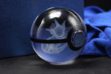 Realistic Crystal Pokeball Large Size (80 Mm Diameter ) - Part 1 - Ball Only / Vaporeon - Pokemon Merchandise
