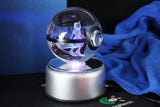 Realistic Crystal Pokeball Large Size (80 Mm Diameter ) - Part 1 - Fixed Base / Mewto - Pokemon Merchandise
