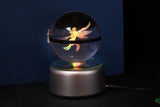 Realistic Crystal Pokeball Large Size (80 Mm Diameter ) - Part 1 - Fixed Base / Scyther - Pokemon Merchandise