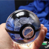 Realistic Crystal Pokeball Large Size (80 Mm Diameter) - Part 2 - Pokemon Merchandise