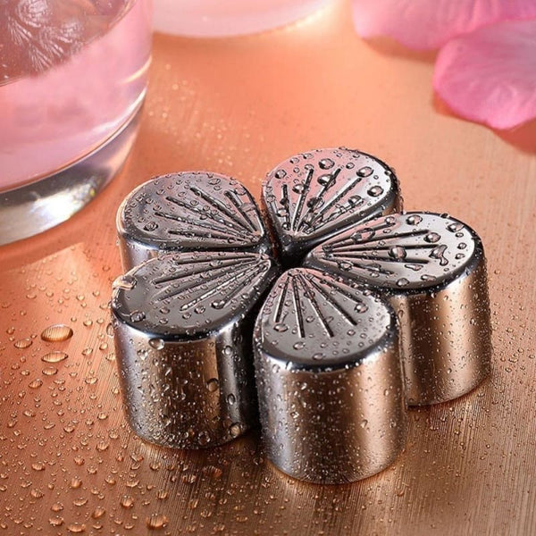 Reusable Stainless Steel Flower Ice Cubes 5Pcs/set - Wine Gadget