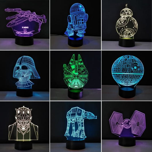 Star Wars Creative 3D Nights Lamp - Star Wars Merchandise