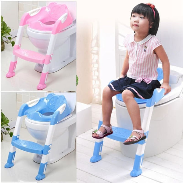 Toilet Trainer Safety Chair With Adjustable Ladder - Kids-Babies
