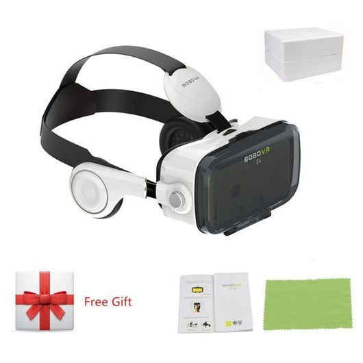 Vr Glasses With Headset For Smartphone - Z4 White - Mobile Phone Accessories