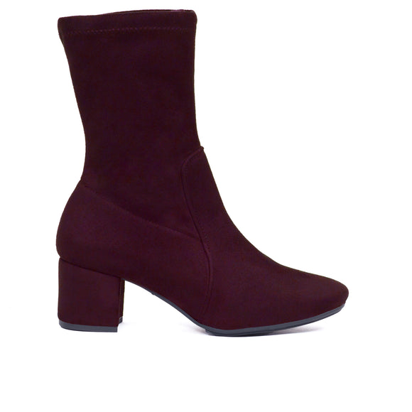 Bottine Skinny Bordeaux