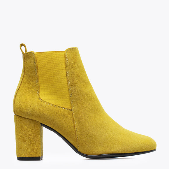 BOTTINES URBAN- Bottines à talon JAUNE