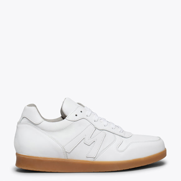 MOVE - Basket en cuir BLANC