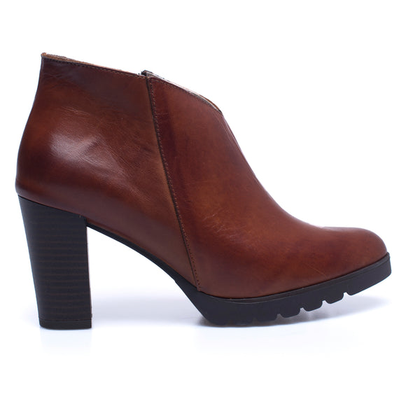 BOTTINES CLASSIC – Bottines pour femme à talon MARRON