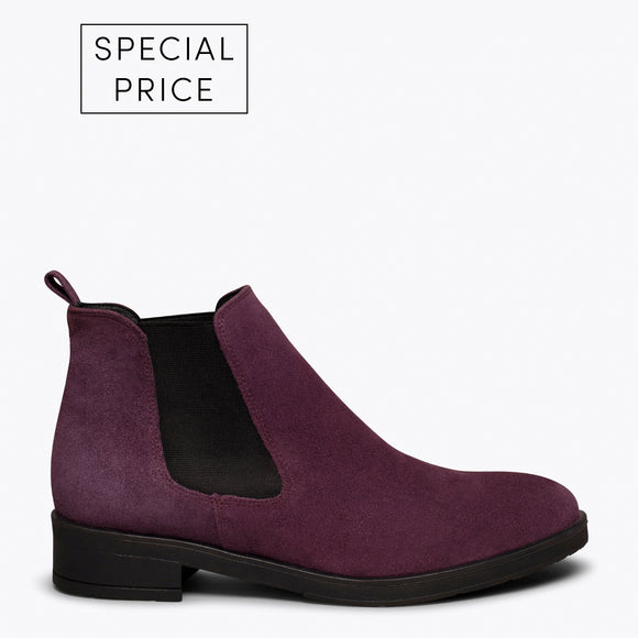 PICADILLY - Bottines chelsea AUBERGINE pour femme
