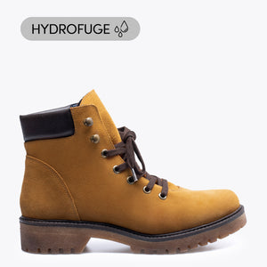 AVIATOR - Bottine CAMEL avec ornement trecking (hydrofuge)