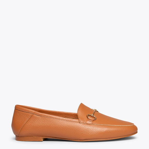 chaussures plates femme camel