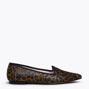 SLIPPER LÉOPARD - Slipper Animal Print MARRON LEOPARD