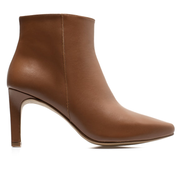 STILETTO - bottines kitten heel cuir CAMEL