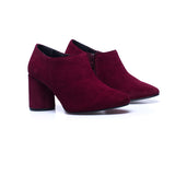 FASHION - Chaussure montante à talon BORDEAUX
